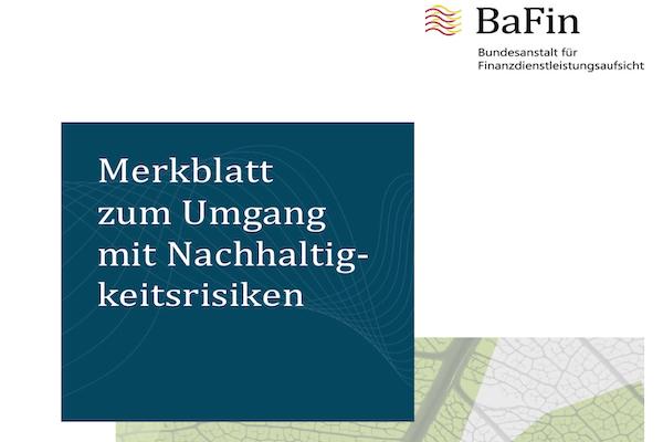 2019-12-20 BaFin Merkblatt final Nachhaltigkeitsrisiken Titel
