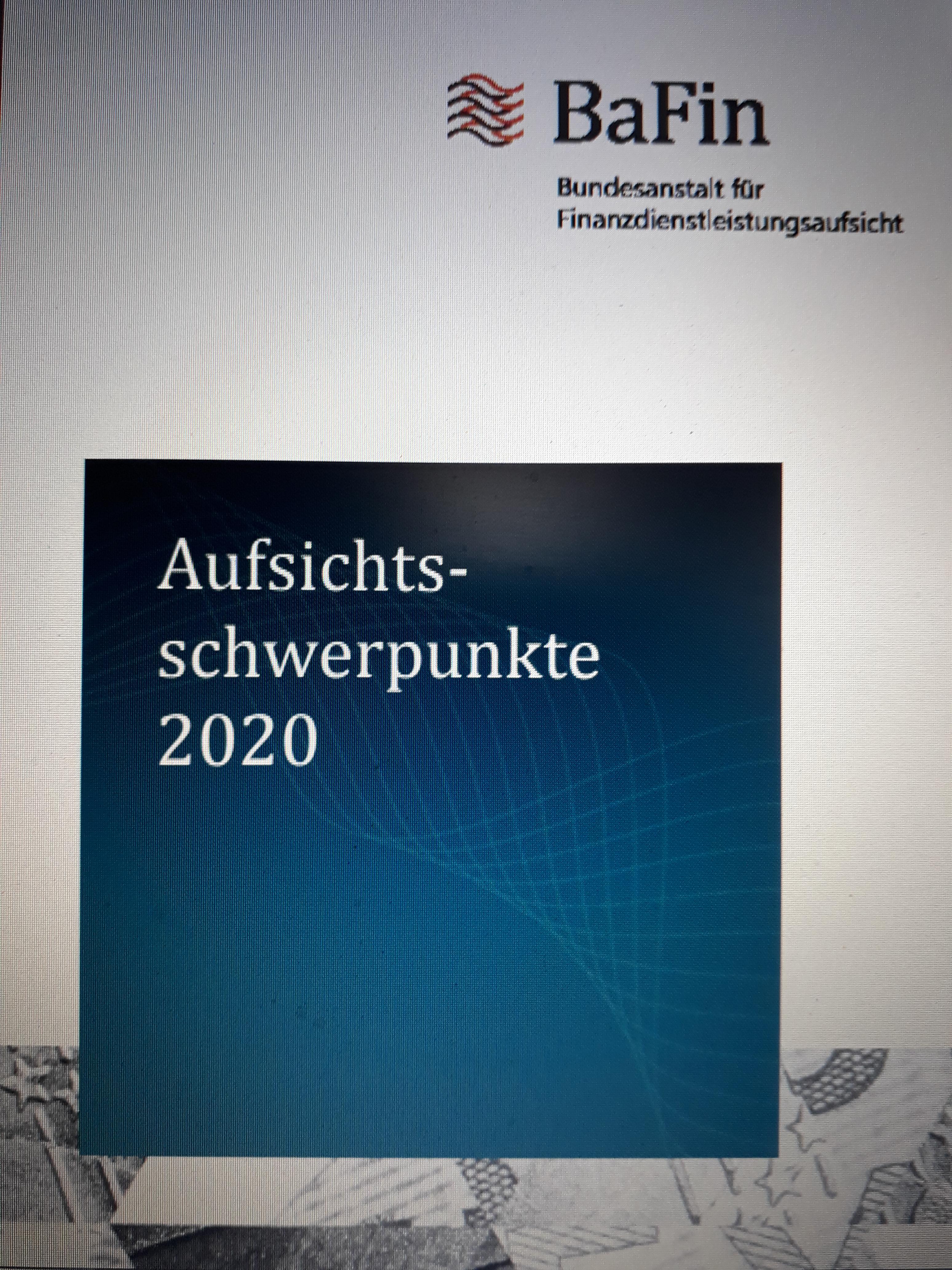 2020-01-16 BaFin Schwerpunkte 2020